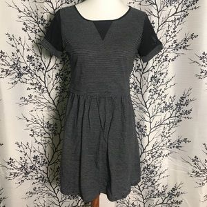 Olive & Oak Mesh Sleeve French Terry Dress